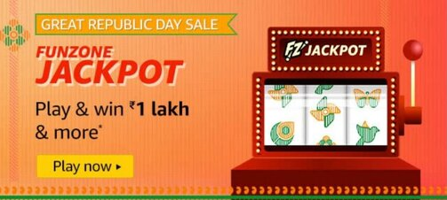 Amazon Great Republic Day Sale Funzone Jackpot Quiz