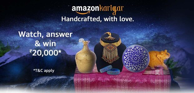 Which Amazon program offers handlooms and handicrafts made by Indian artisans?