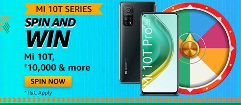 Amazon MI 10T Series Spin and Win Quiz