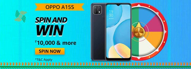 Amazon Oppo A15s Spin and Win Quiz