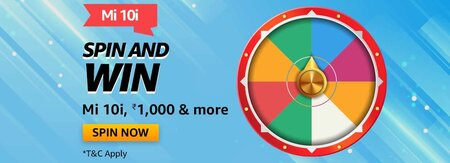 Amazon Mi 10i Spin and Win Quiz