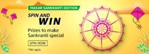 Amazon Makar Sankranti Edition Spin and Win Quiz