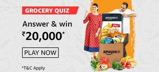 Amazon Grocery Quiz Answers Win Rs.20000